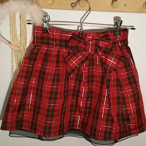 Cherokee Size 6 Red Black Tartan Plaid Skirt
